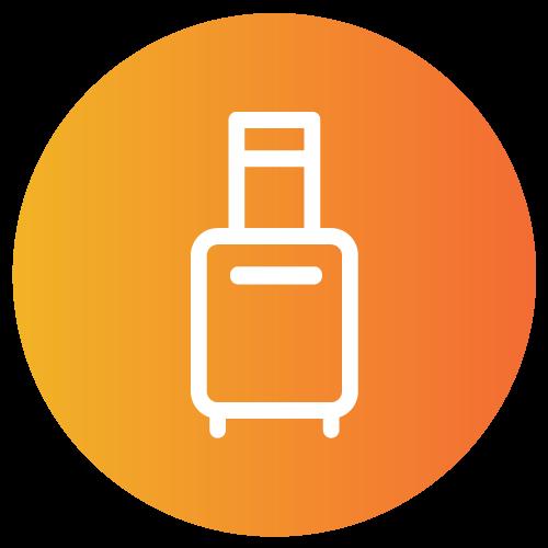 Provider Healthcare Locum Tenens orange circle icon.