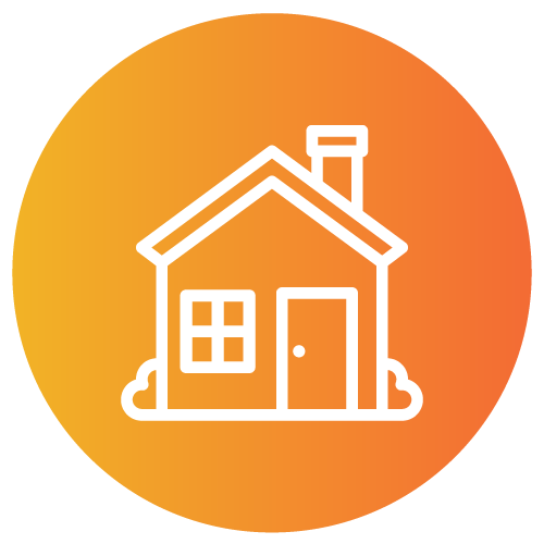 Provider Healthcare Permanent Placement orange circle icon.