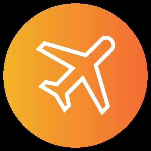 Provider Healthcare Travel Logistics orange circle icon.